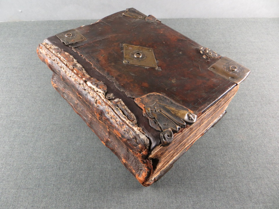 Bible after treatment.